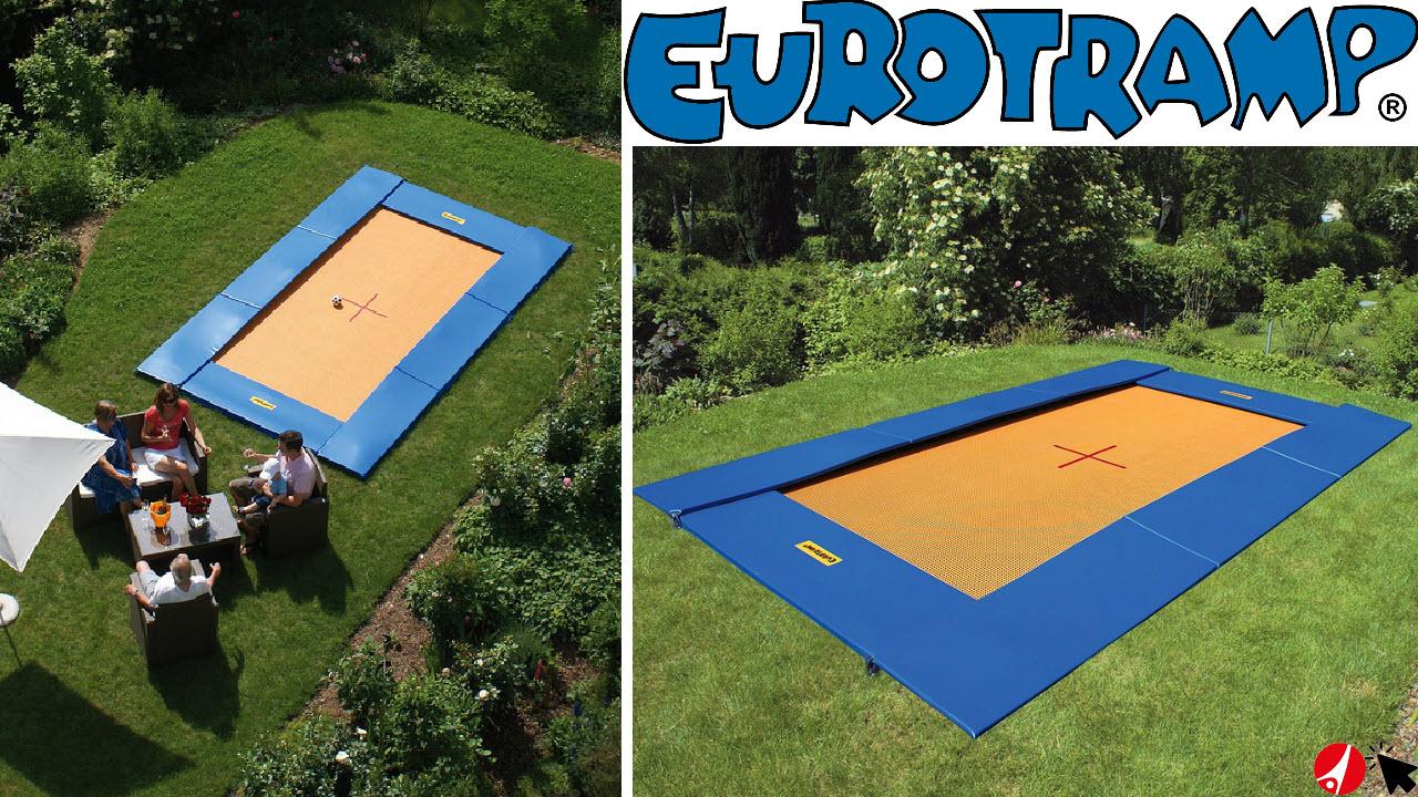 Eurotramp Bodentrampolin groß rechteckig