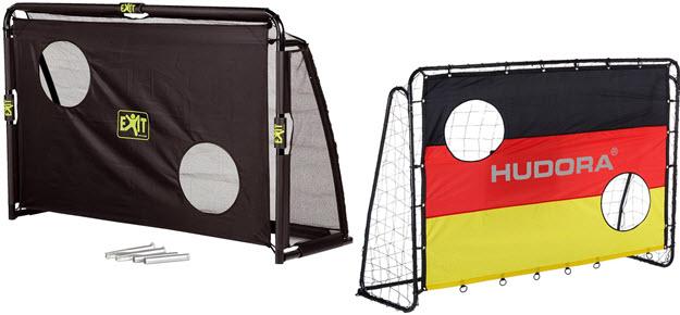 Garten Fußballtor mit Torwand im Vergleich
