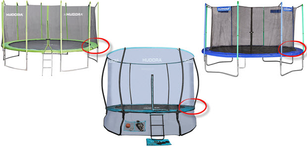 Hudora Garten-Kinder Trampoline mit Sicherheitsnetz