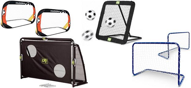 Hudora Pop up Fußballtore, Exit Fußballtor mit Torwand, Fußball rebounder,