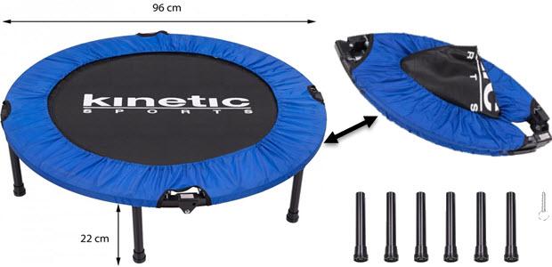 Kinetic Sports 96cm Indoor Fitness Trampolin faltbar klappbar