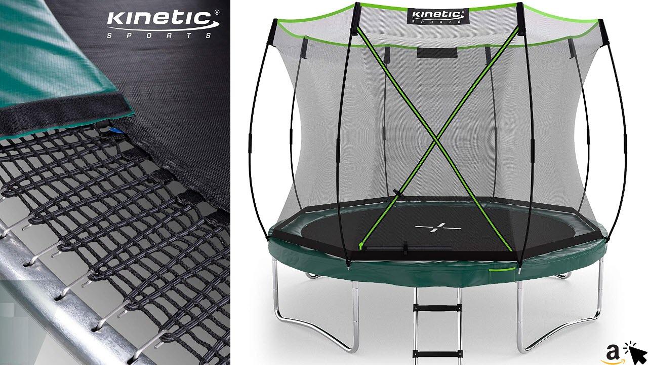 Kinetic Sports Federloses Trampolin 'Bungee Safety Elite' für Kinder und Erwachsene, TÜV GS-geprüft, Designed in Germany, Premium Gartentrampolin mit AirMAXX Technologie