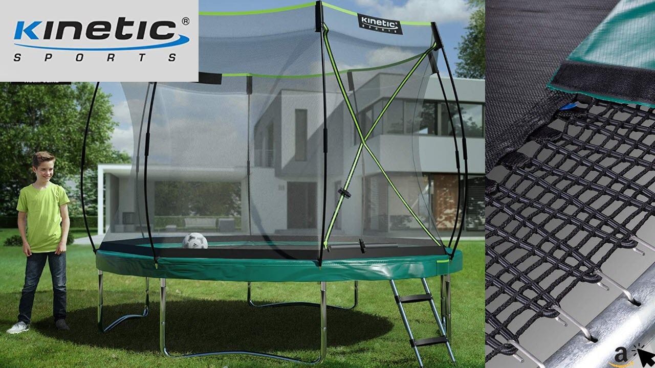 Kinetic Sports Federloses Trampolin 'Bungee Safety Elite' für Kinder und Erwachsene, mit AirMAXX Technologie, Grössen 244, 305 oder 366 cm, TÜV GS-geprüft