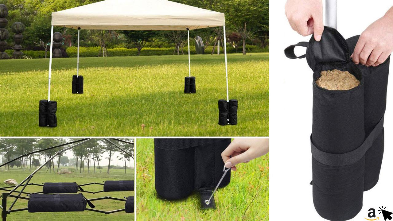 RIOGOO 4er-Pack Sandsäcke Industriequalität Hochleistungs-Doppelgenähte Sand Tasche, Beingewichte für Trampolin