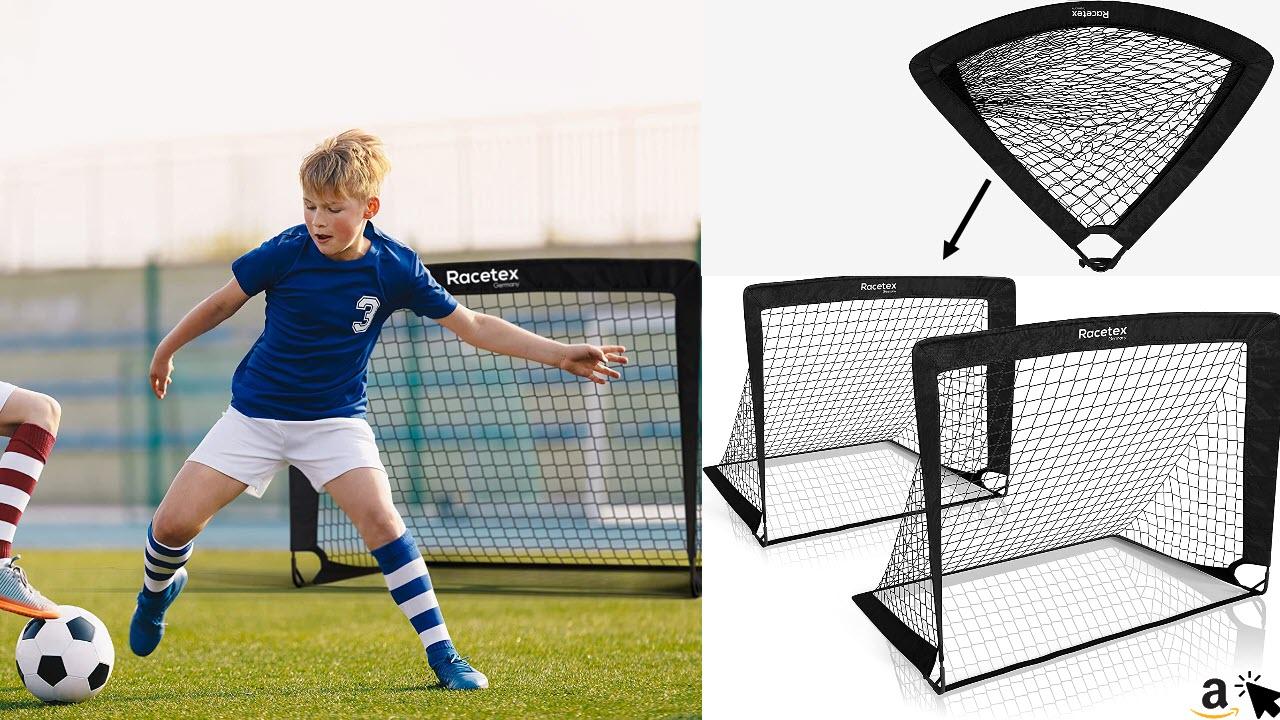 Racetex 2er Fußballtor Kinder Set - Fußball Tore inkl nützlicher Tasche zum Transportieren - Fussballtore für den Garten oder Park