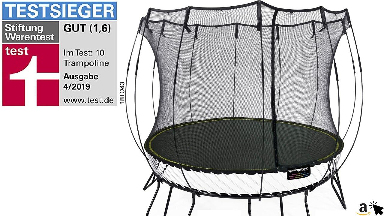 Springfree Trampolin R79 - Medium Round 300 cm Durchmesser Reine Sprungfläche
