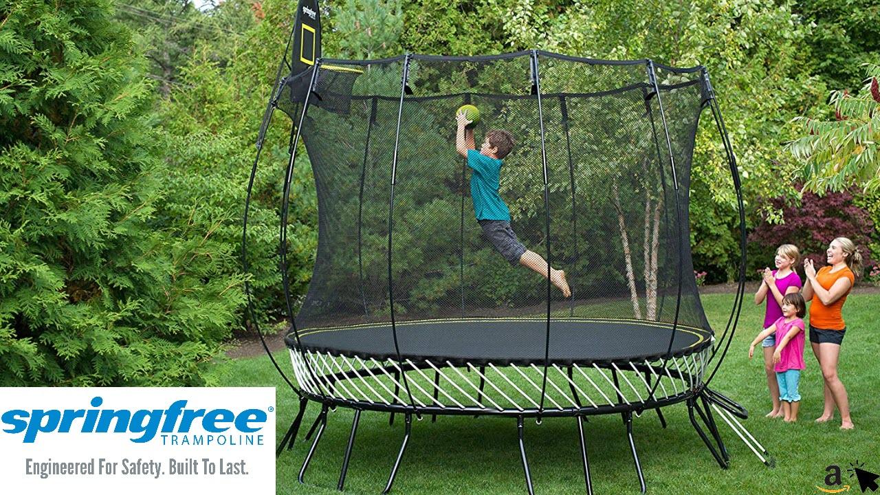Springfree Trampolin R79 - Medium Round Ø 300 cm Reine Sprungfläche - entspricht Durchmesser 365 cm normaler Gartentrampoline