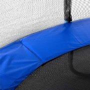 Trampolin Materialermüdung von Sprungmatte, Randabdeckung und Sicherheitsnetz