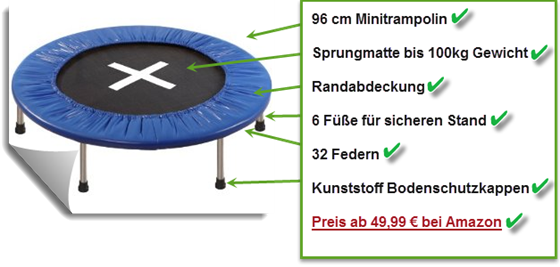 Minitrampolin Qualität Checklist